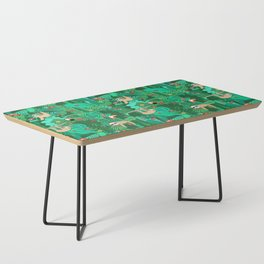 Sloths in the Emerald Jungle Pattern Coffee Table