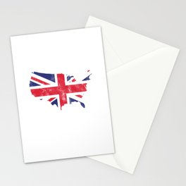 Make America Great Britain Again British Flag Nationalism Country Patriotic Gift Stationery Cards
