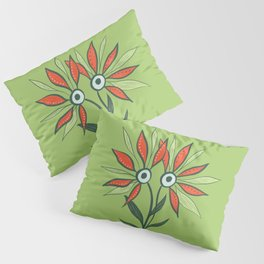 Cute Eyes Flower Monster Pillow Sham