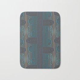 art deco stripe Bath Mat