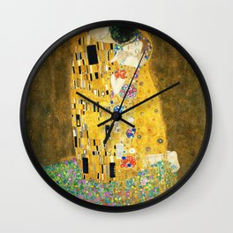 Gustav Klimt The Kiss Wall Clock