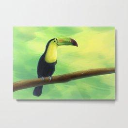 llustration of Toucan. Digital painting. Metal Print