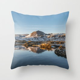 Winterscape in Iceland II Throw Pillow