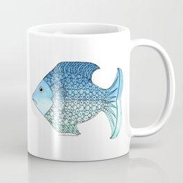 Whimsical Doodle Fish Coffee Mug