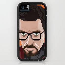 Gordon Freeman portrait iPhone Case