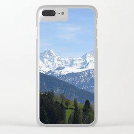 Eiger Bernese Oberland Switzerland Clear iPhone Case