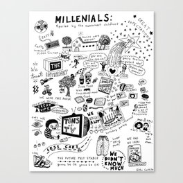 MILLENIALS - The Poster Canvas Print