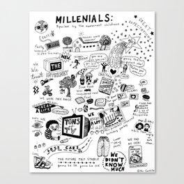MILLENIALS - The Poster Canvas Print