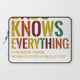 Mens Babu Knows Everything Swahili Grandpa Father's Day T-Shirt Laptop Sleeve