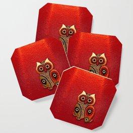 Retro Wood Owl Coaster