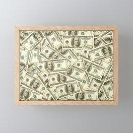 100 dollar bills Framed Mini Art Print