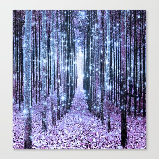 Magical Forest Lavender Ice Blue Periwinkle Canvas Print