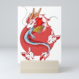 Dragon in the Kitsune Mask Mini Art Print