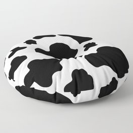 Cow Print Pattern / White / Black Floor Pillow
