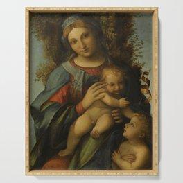 "Antonio Allegri da Correggio ""Madonna and Child with infant Saint John the Baptist"" Serving Tray"