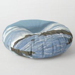 Breaking Waves Rock Rocky Shore, South Africa Floor Pillow