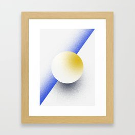 Shape Studies: Circle IV Framed Art Print