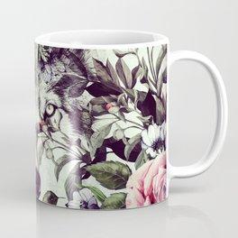 Floral Wolf Coffee Mug