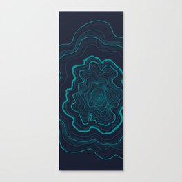 Tree Rings of Midnight Canvas Print
