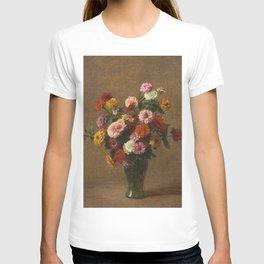 Henri Fantin Latour - Zinnias T-shirt