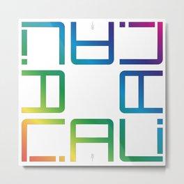 """CALI""  Word concept Metal Print"