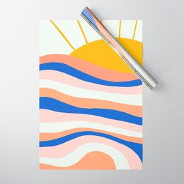 sunrise surf Wrapping Paper