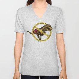 No T-rex arms Unisex V-Neck