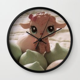 Cotton candy cookies Wall Clock