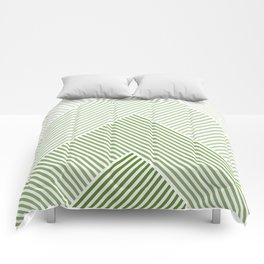 Shades of Green Abstract geometric pattern Comforters