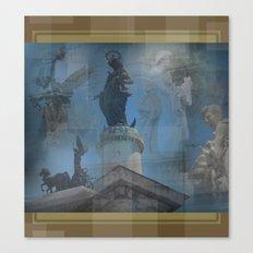 Rome Statues 2 Canvas Print