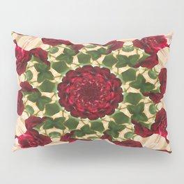 Old Red Rose Kaleidoscope 10 Pillow Sham