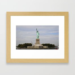 The Statue of Liberty: Front and Center Framed Art Print