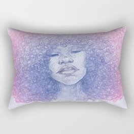 Curls & Colors (Blue) Rectangular Pillow
