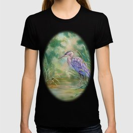 """Solitude"" - Pastel of Great Blue Heron T-shirt"