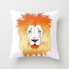 Fire Lion Throw Pillow