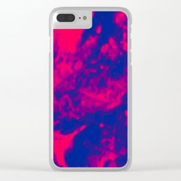 Pink - Purple - Blue Abstract Vector Texture Clear iPhone Case