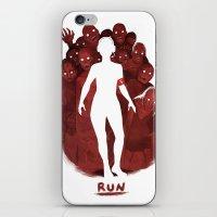 run iPhone & iPod Skins featuring Run by ariabacon