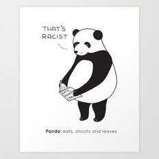 Pandas not Guns Art Print