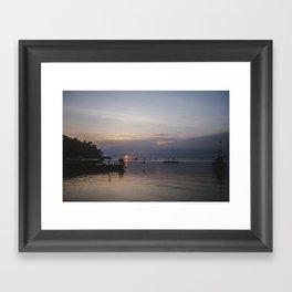 Sunset, Koh Phangan Framed Art Print