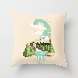 Lake monster - Bon Nûl Throw Pillow