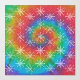 Hippie Holiday Tie Dye Canvas Print