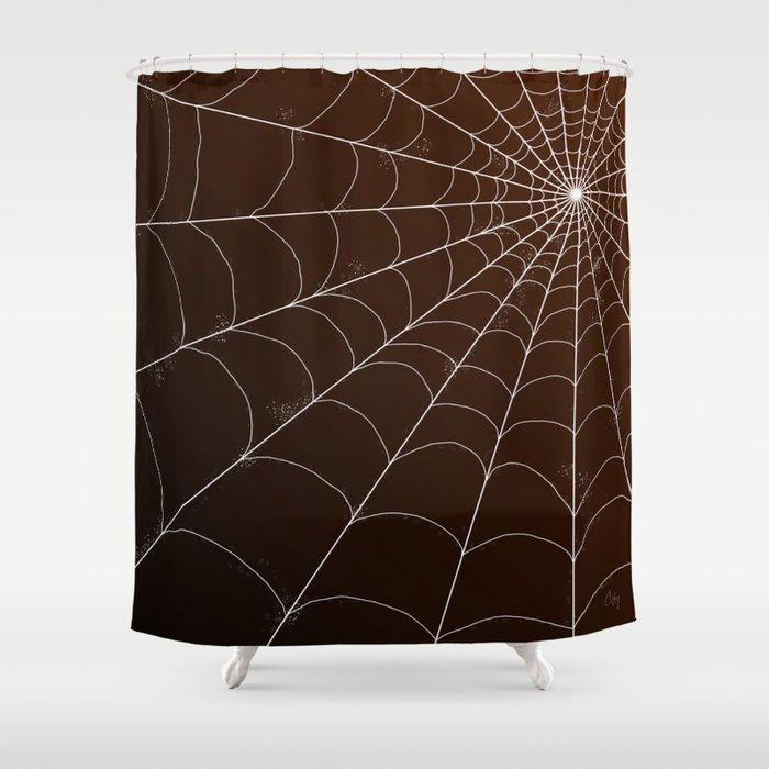 Spiderweb On Spice Shower Curtain