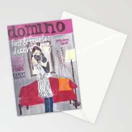 Domino Magazine Premiere Issue- Painting Stationery Cards