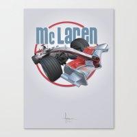 f1 Canvas Prints featuring McLAREN F1 by orlando arocena ~ olo409- Mexifunk
