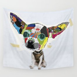 Chihuahua Colorful Dog POP Art Collage Wall Tapestry