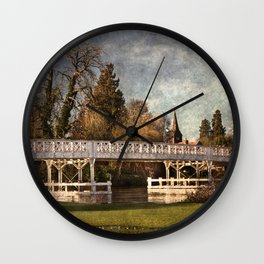 Whitchurch on Thames Toll Bridge Wall Clock