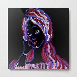 Autoportrait de Jolie Fille Metal Print
