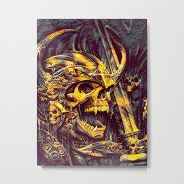 Undead Skeleton Warrior Metal Print