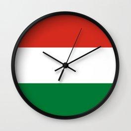 Flag: Hungary Wall Clock
