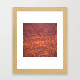 Percolated Sunset in Warm Tones Framed Art Print